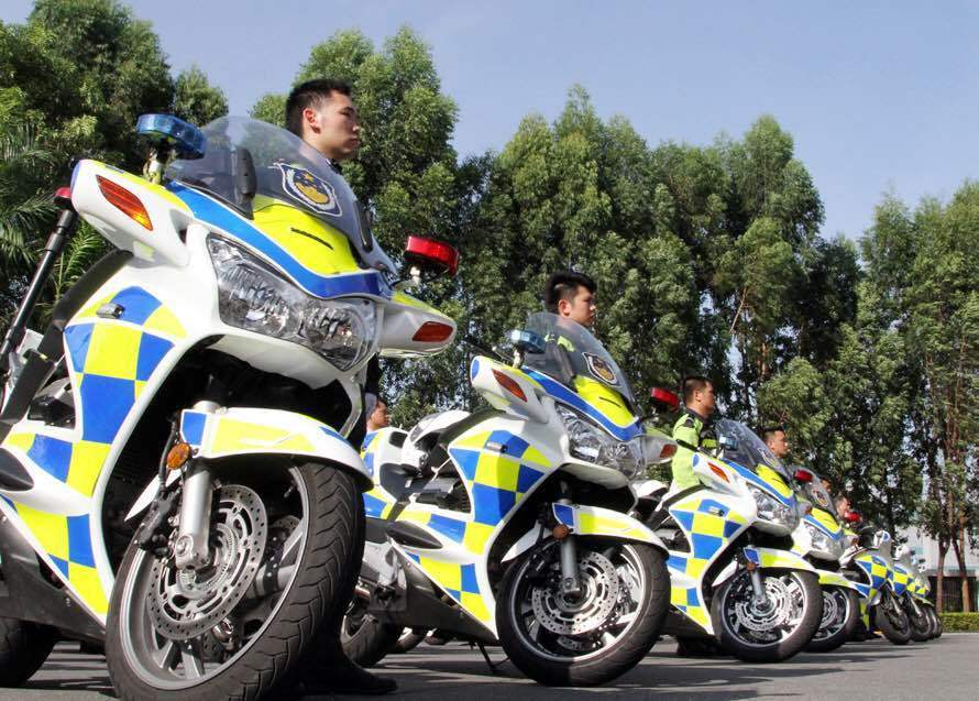东莞市公安局交警支队机动巡逻大队警用摩托车