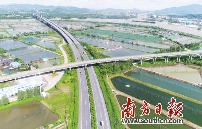 图为斗门581县道与江珠高速交汇处。关铭荣 摄