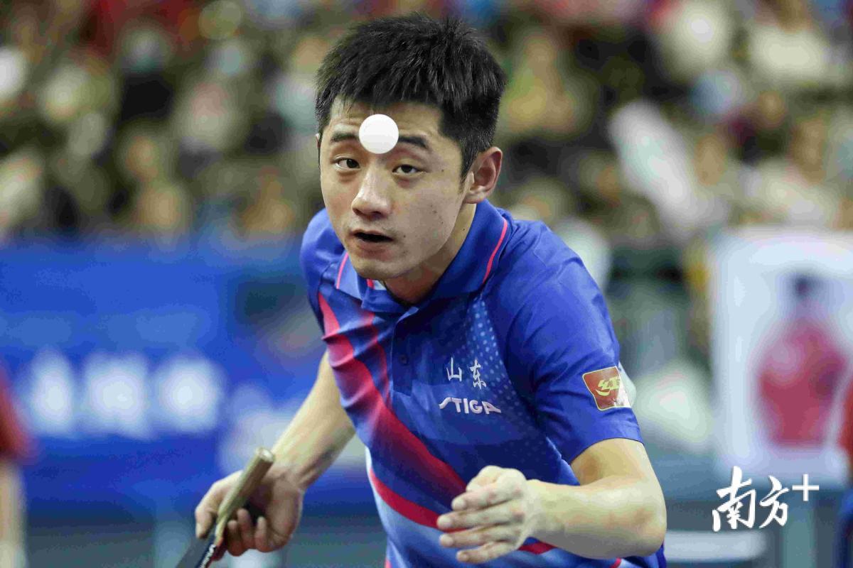 8月28日,天津市武清体育馆,第十三届全运会乒乓球男团小组赛第一轮,代