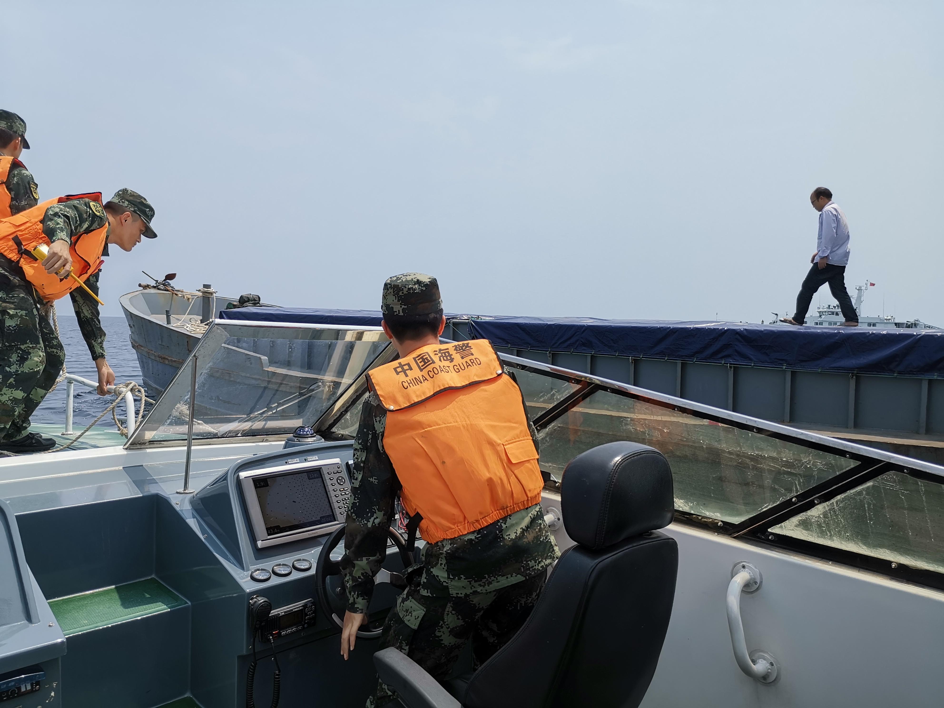 广东海警查获涉嫌走私冻品100余吨 案值逾500余万