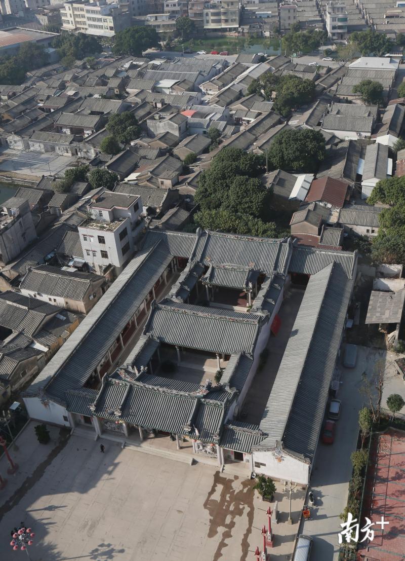 枫溪长美二村俯瞰(局部),较为完善的自治制度保障了该村的良性发展。