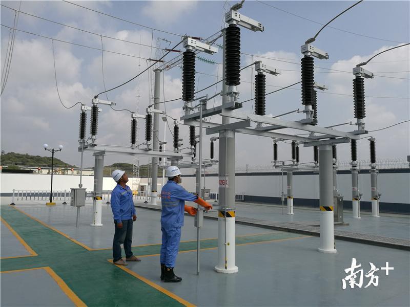 深茂铁路电白变电站成功通过5次受电冲击实验。 通讯员供图