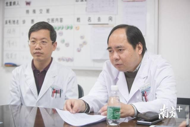 易述红和张彤介绍患儿病情