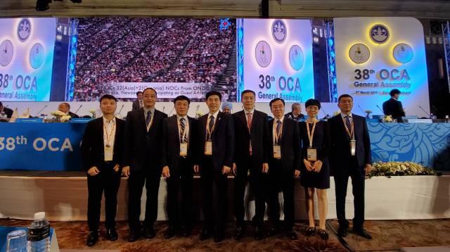 申办团在泰国参加亚奥理事会全体大会