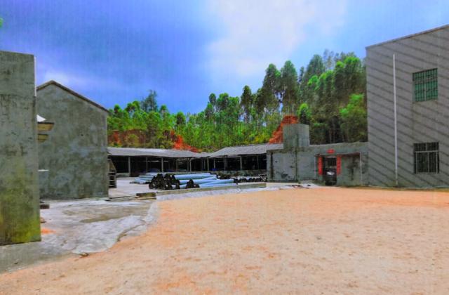 梁槐盯上海蜇收購市場,并在其位于江洪鎮的院子內修建了海蜇加工廠。翻拍自案件卷宗