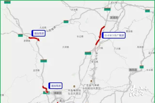 清远辖区易拥堵缓行高速。赫鹏翀 摄