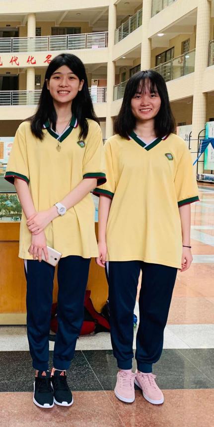 陈可欣和肖韵怡。南方+记者 汤晓微 摄