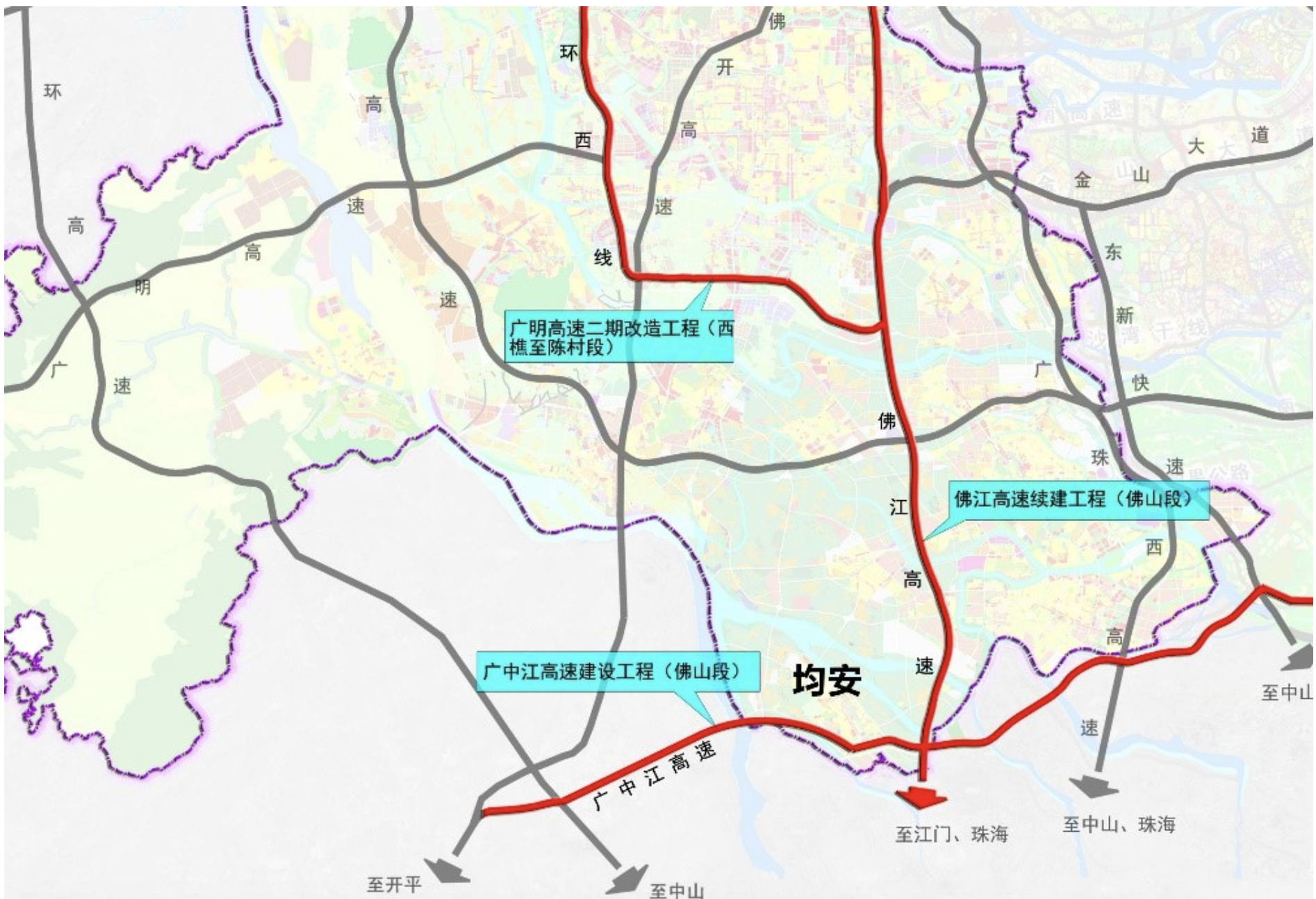 均安周边的路网建设提速。