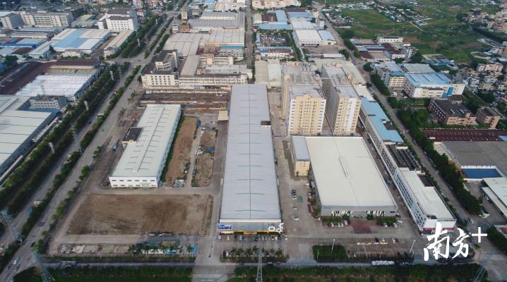 广东华南机械装备产业园(一期)已建成高配置、高标准的生产车间和污水处理设施。伦教村改办供图