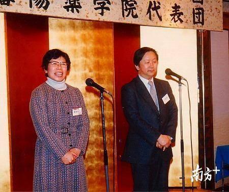 上世纪80年代,中国沈阳药学院与日本北里大学药学院结成姊妹校,栗原悦子女士在签约仪式上发言。