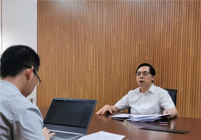 广东德赛集团董事长、总裁姜捷接受南方日报、南方+记者专访。南方日报记者 梁维春 摄
