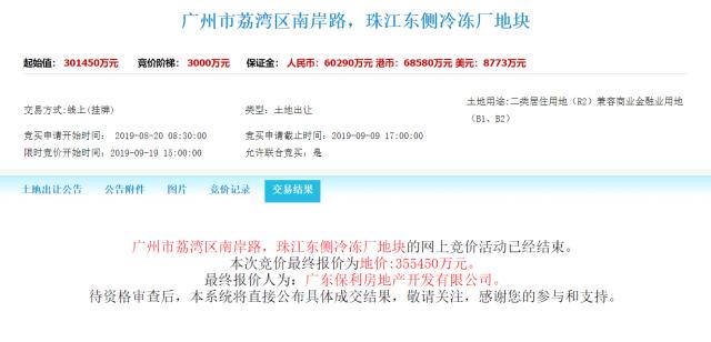 荔湾江景靓地被保利拿走,原东家深圳建工吃亏了?不一定!