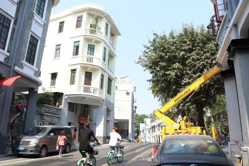 修缮后的广州骑楼。南方日报记者 许蕾 实习生 卢琳绵摄