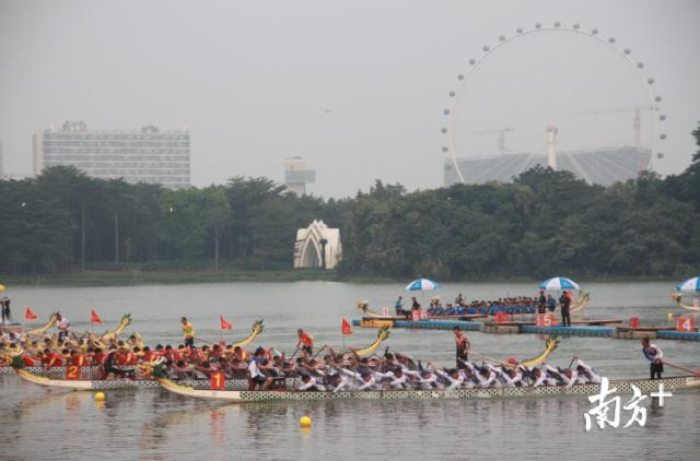 11月2日,第一届中国龙舟大奖赛暨2019佛山(国际)龙舟嘉年华活动隆重开幕。桂畔湖上龙舟竞渡。