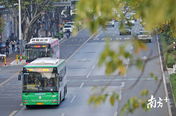 截至目前,禅城区已开通16条骨干线路共75.73公里,公交骨干线路网络体系初具规模。戴嘉信 摄