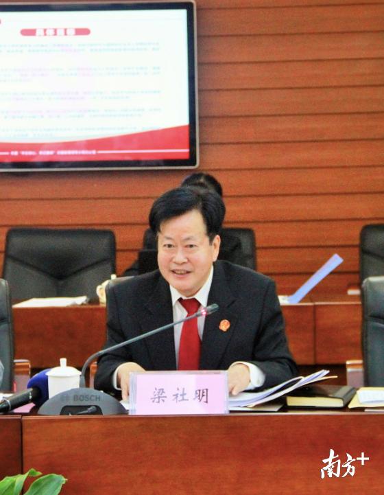 顺德法院副院长梁社明对新启动的行政争议诉前调解工作机制做介绍。 欧阳少伟 摄