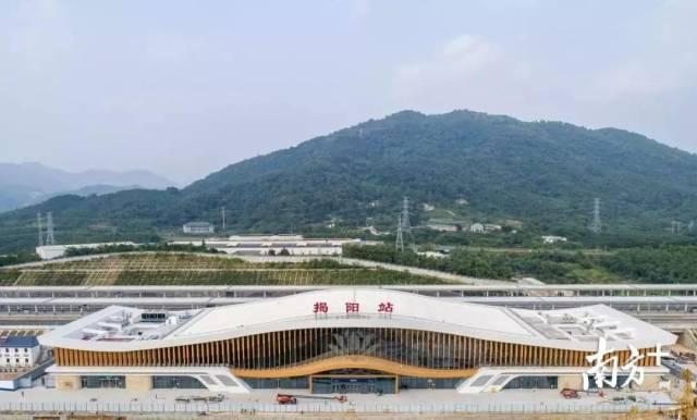 梅汕高铁揭阳站航拍图