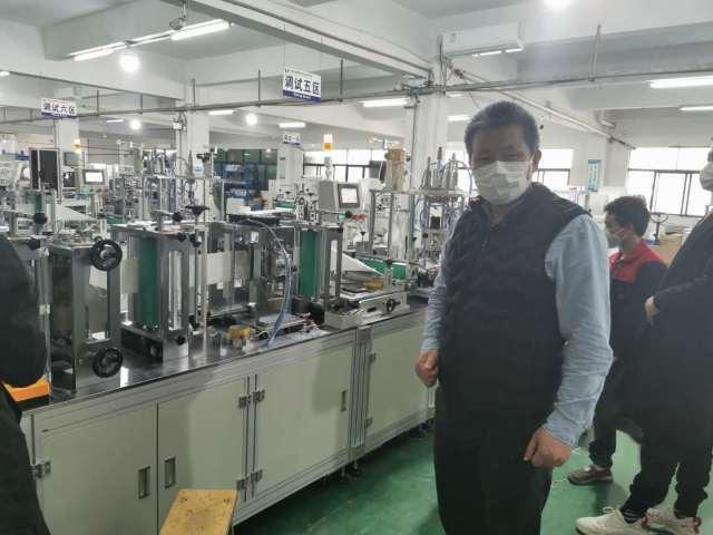 陈日铃到广东多个口罩生产设备厂家考察洽谈购机