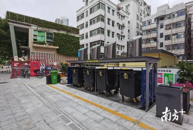具备防疫功能的地埋式垃圾桶 垃圾站在深圳启用