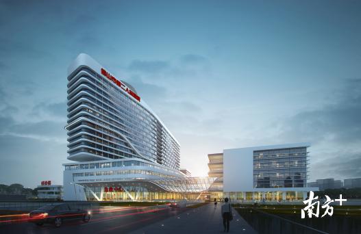 佛山市第二人民医院新院区效果图。