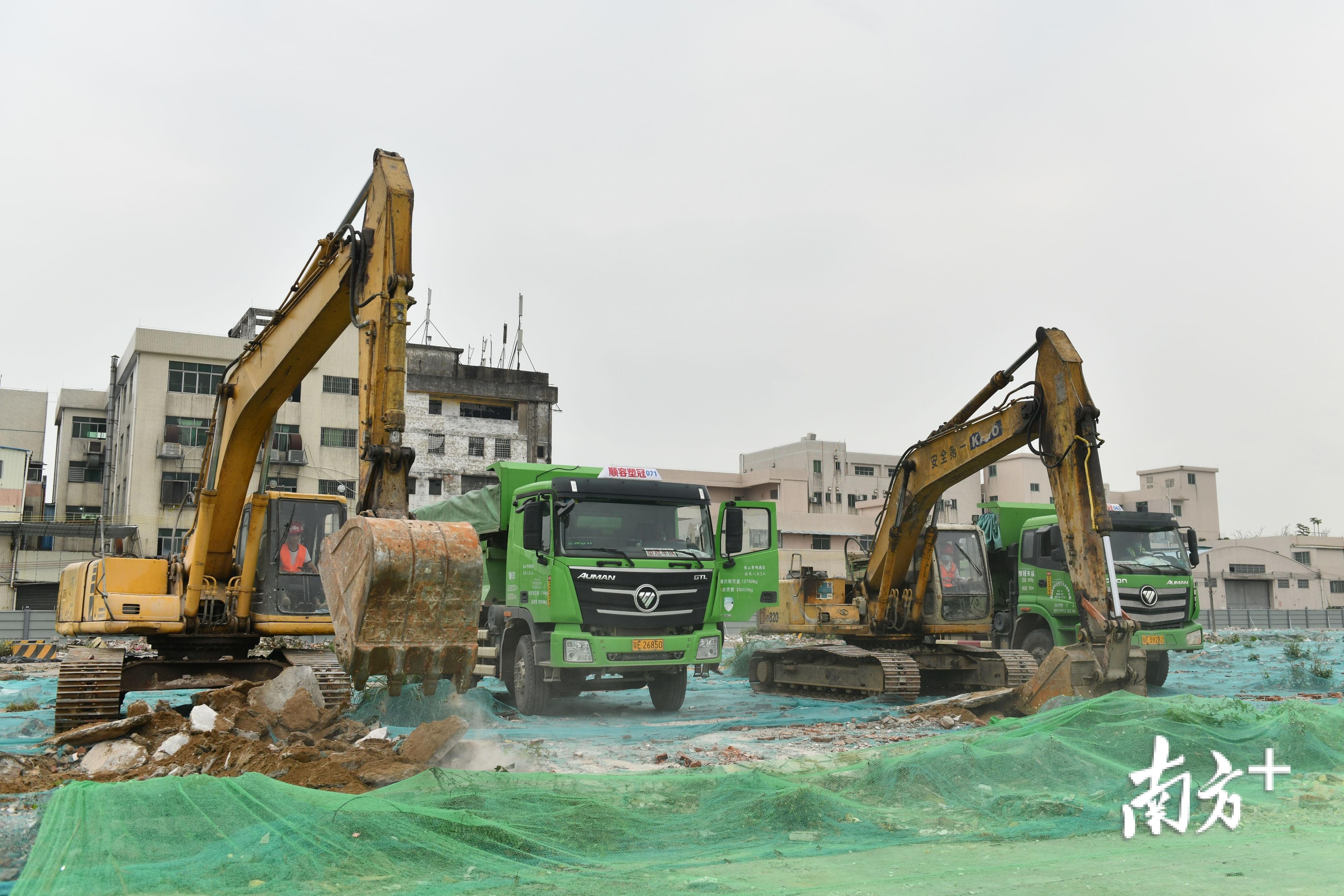 中建国际投资有限公司的创新智慧城项目在顺德容桂正式动工。南方日报记者 戴嘉信 摄