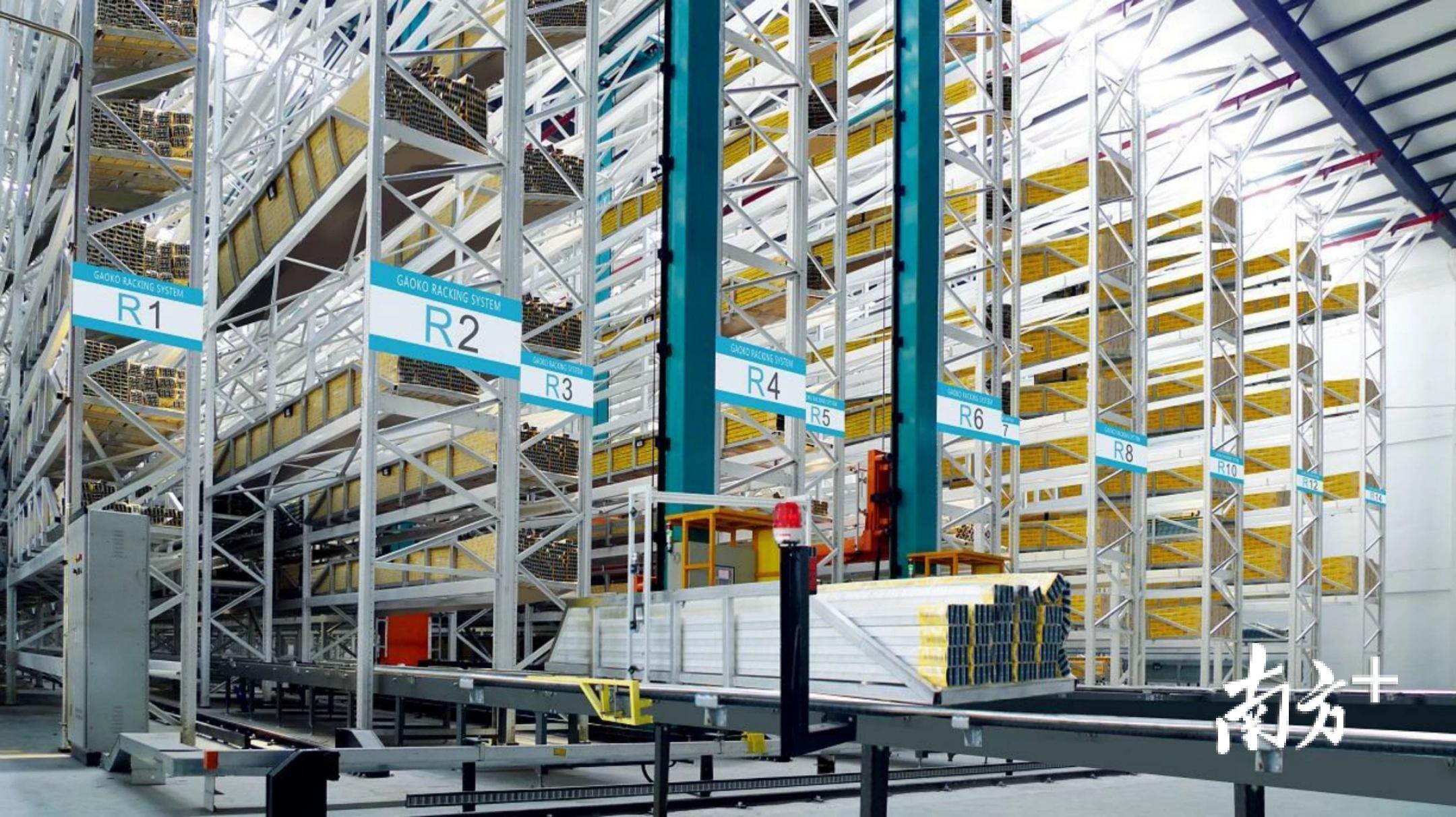 华昌铝业打造的全自动立体画仓库。受访者供图