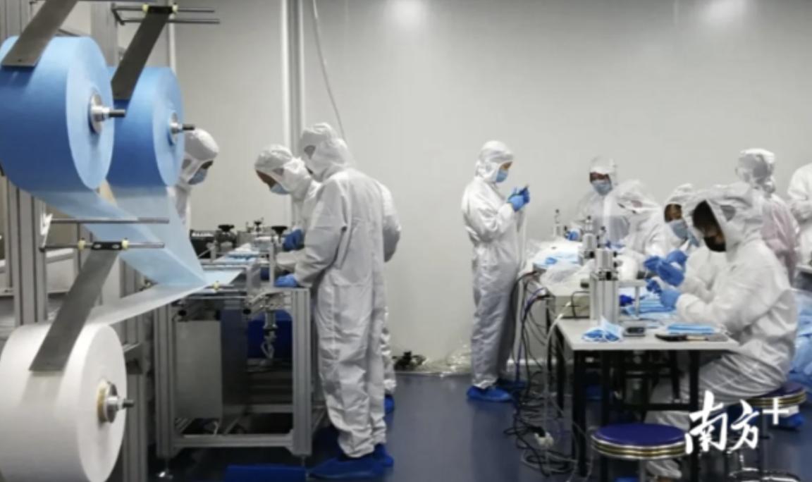 碧沃丰口罩生产基地投产。受访者供图