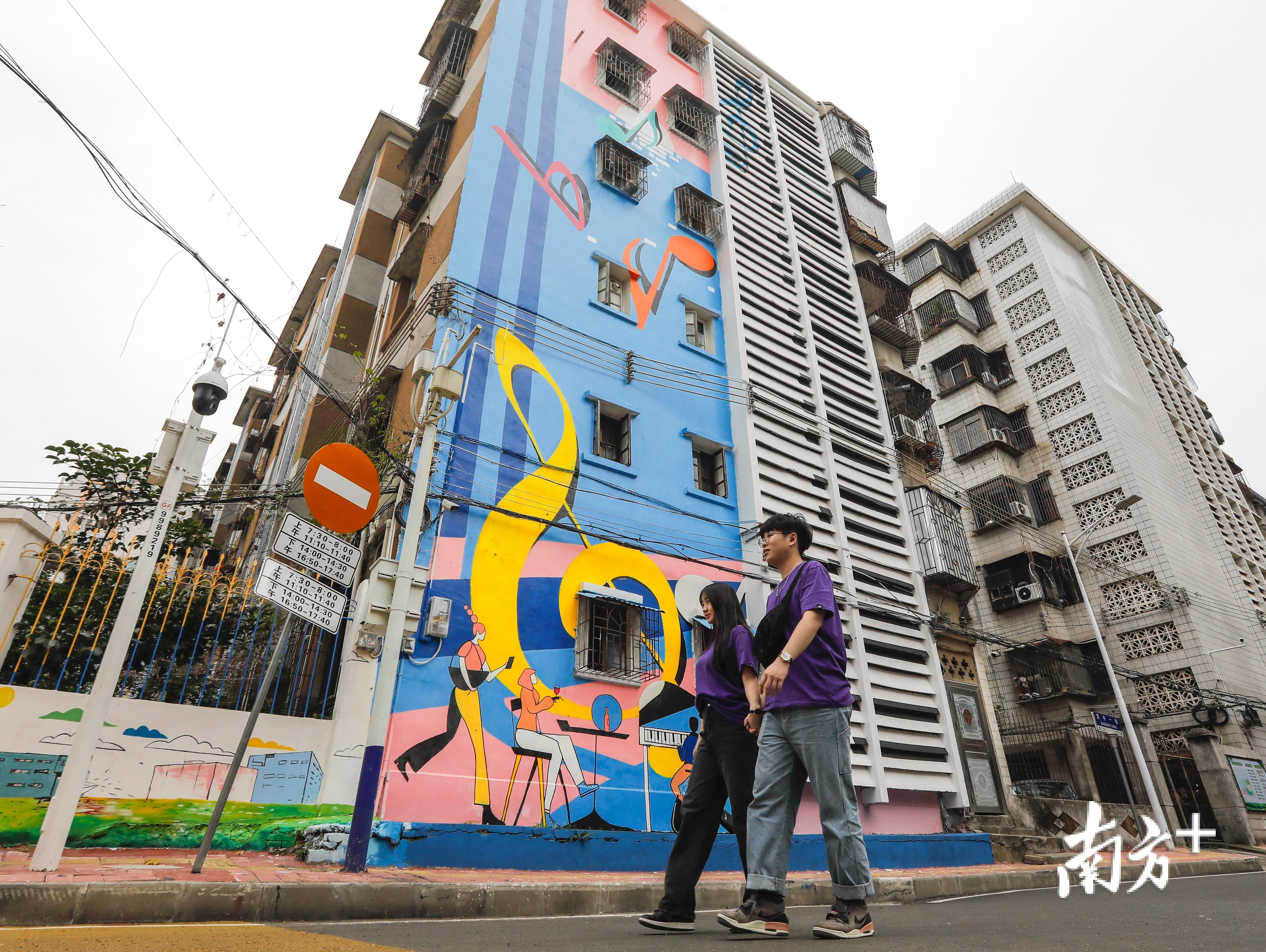好心绿道经过的方兴小区钢琴楼面涂鸦成为著名的网红打卡点。