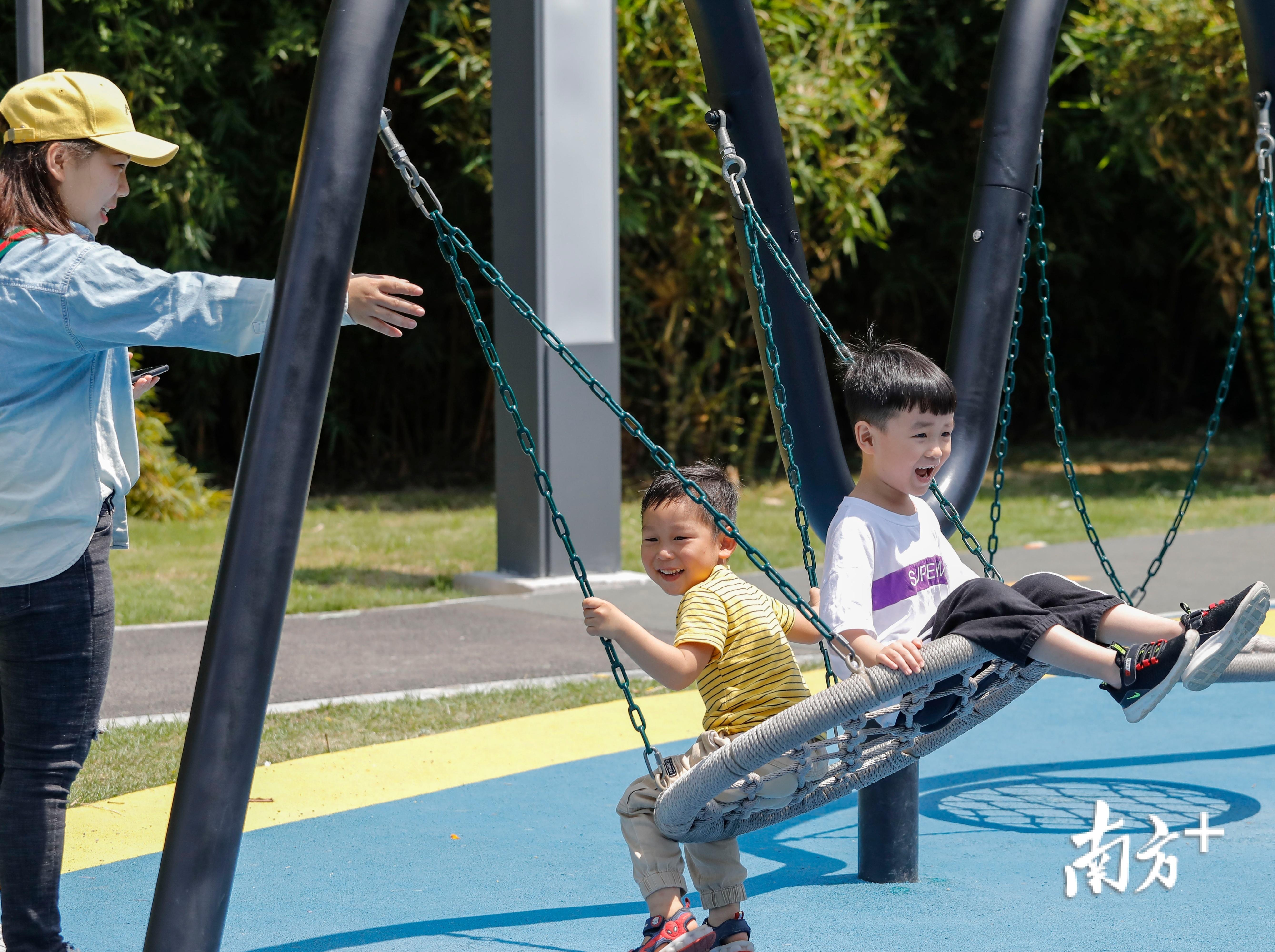 通过好心绿道可到达新湖公园的儿童乐园。