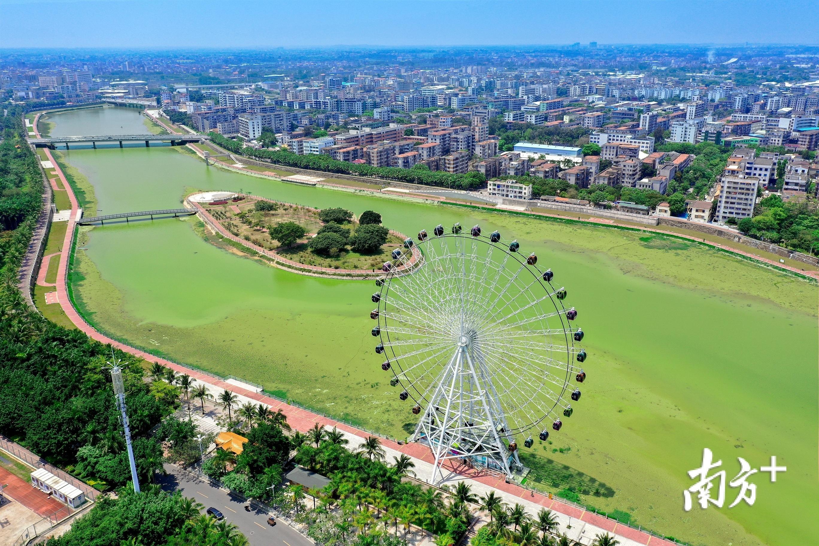 未来河东片区的绿道将穿越小东江畔与河西片区串联成网。