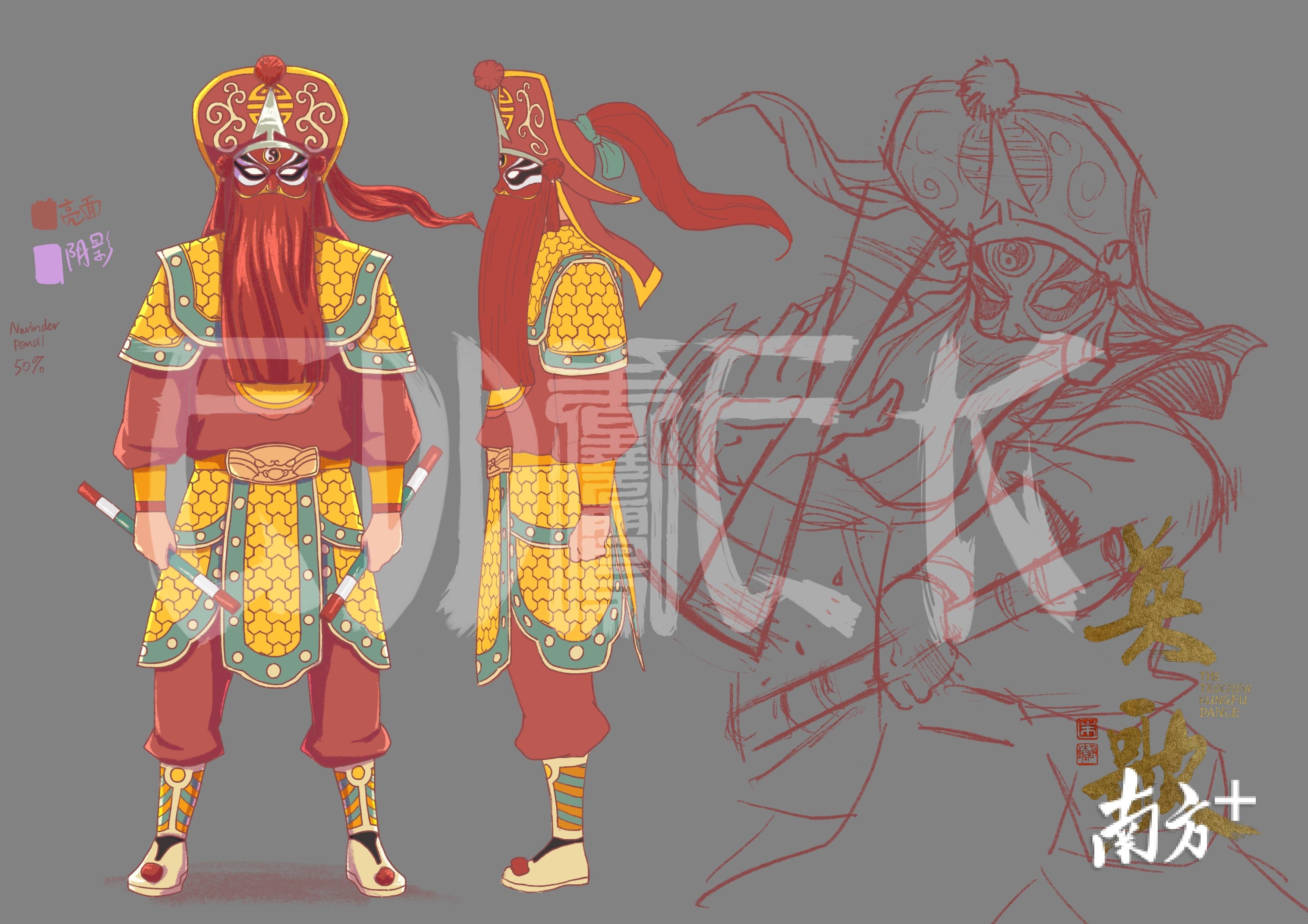 朱晓鹏动画手绘草图。受访者供图
