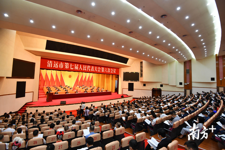 5月14日,清远市第七届人民代表大会第六次会议在清远国际会展中心召开。  南方日报记者 曾亮超 摄