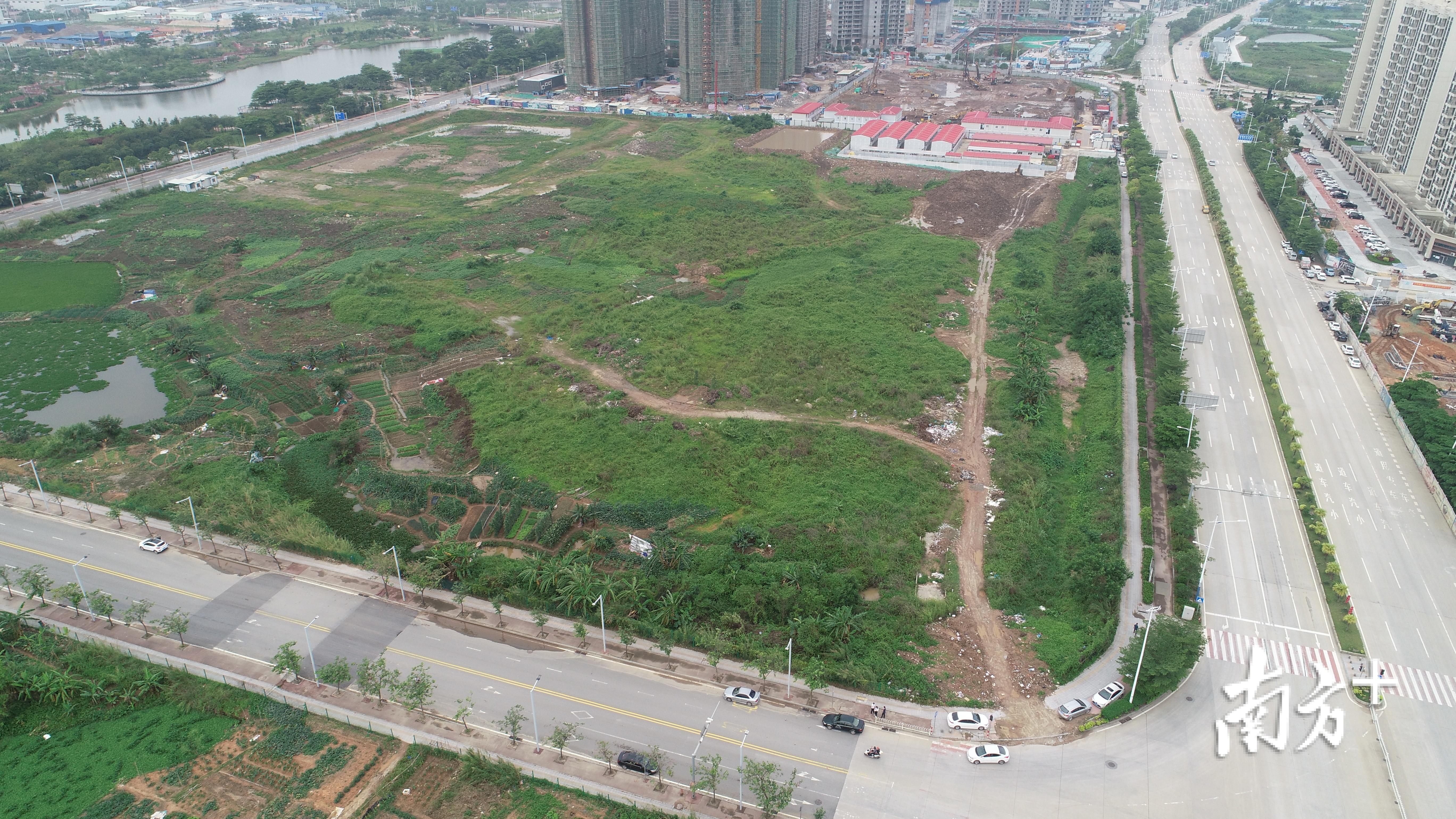 蓬江09号地实景图。