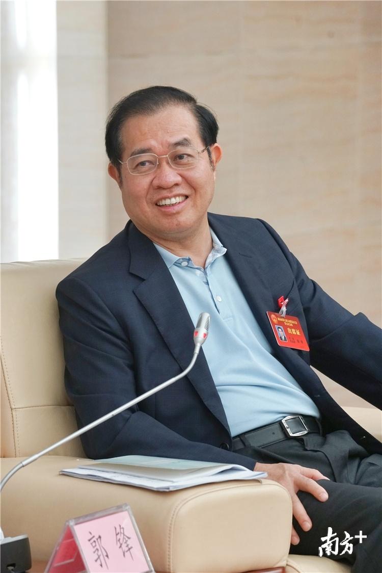 全国人大代表、清远市委书记、市人大常委会主任郭锋。梁素雅 摄