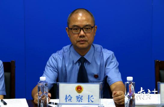 连南县人民检察院代检察长黄令诚。
