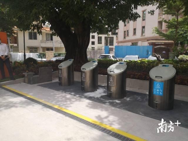 """会灭火、除臭还消毒,深圳一社区站的垃圾桶全""""隐""""地下"""