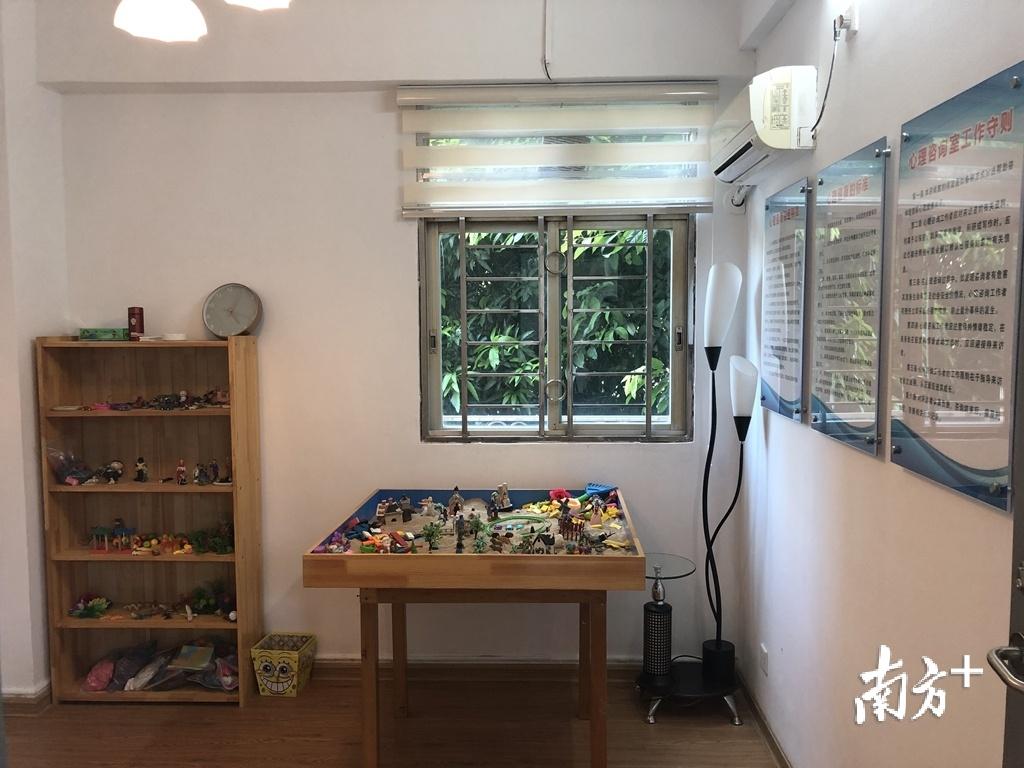 暖阳居家养老服务中心特意为长者设置了心理咨询室。