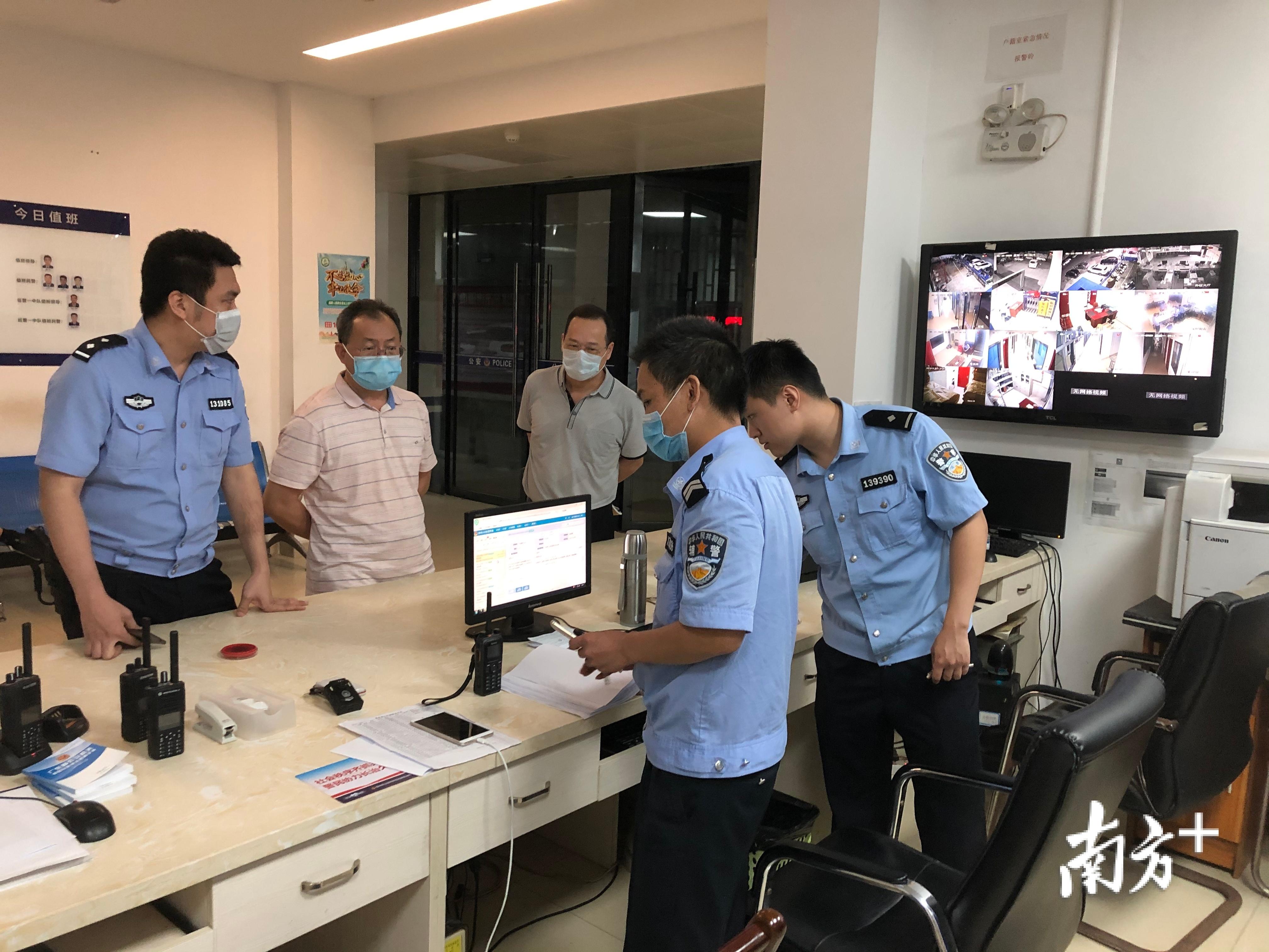 市委第一巡察组巡察仲恺公安分局期间,走访惠新派出所。