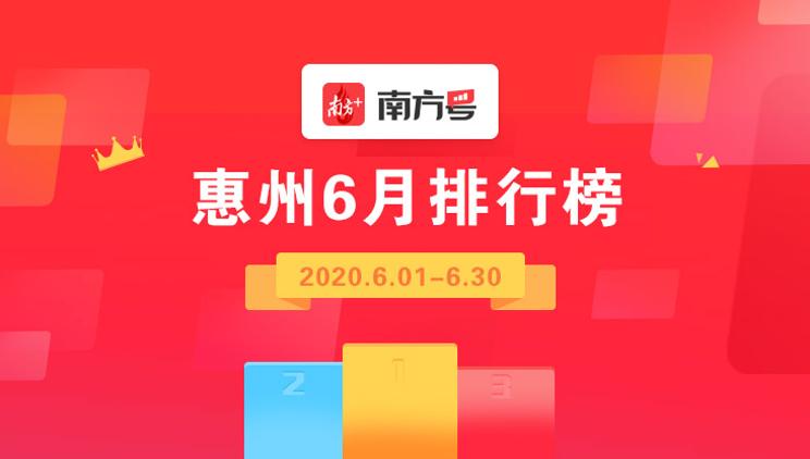 惠州交警跻身前十!bob电竞体育博彩号惠州矩阵6月影响力排行榜放榜
