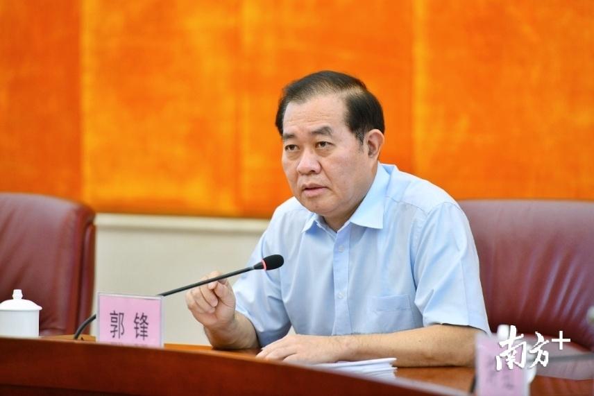 清远市委书记郭锋就抓好试验区建设提出要求。记者 曾亮超 摄