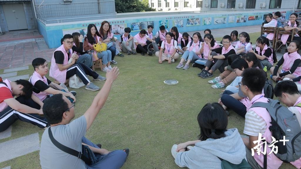 汕头大学学生的宁养院临终关怀实践活动课。