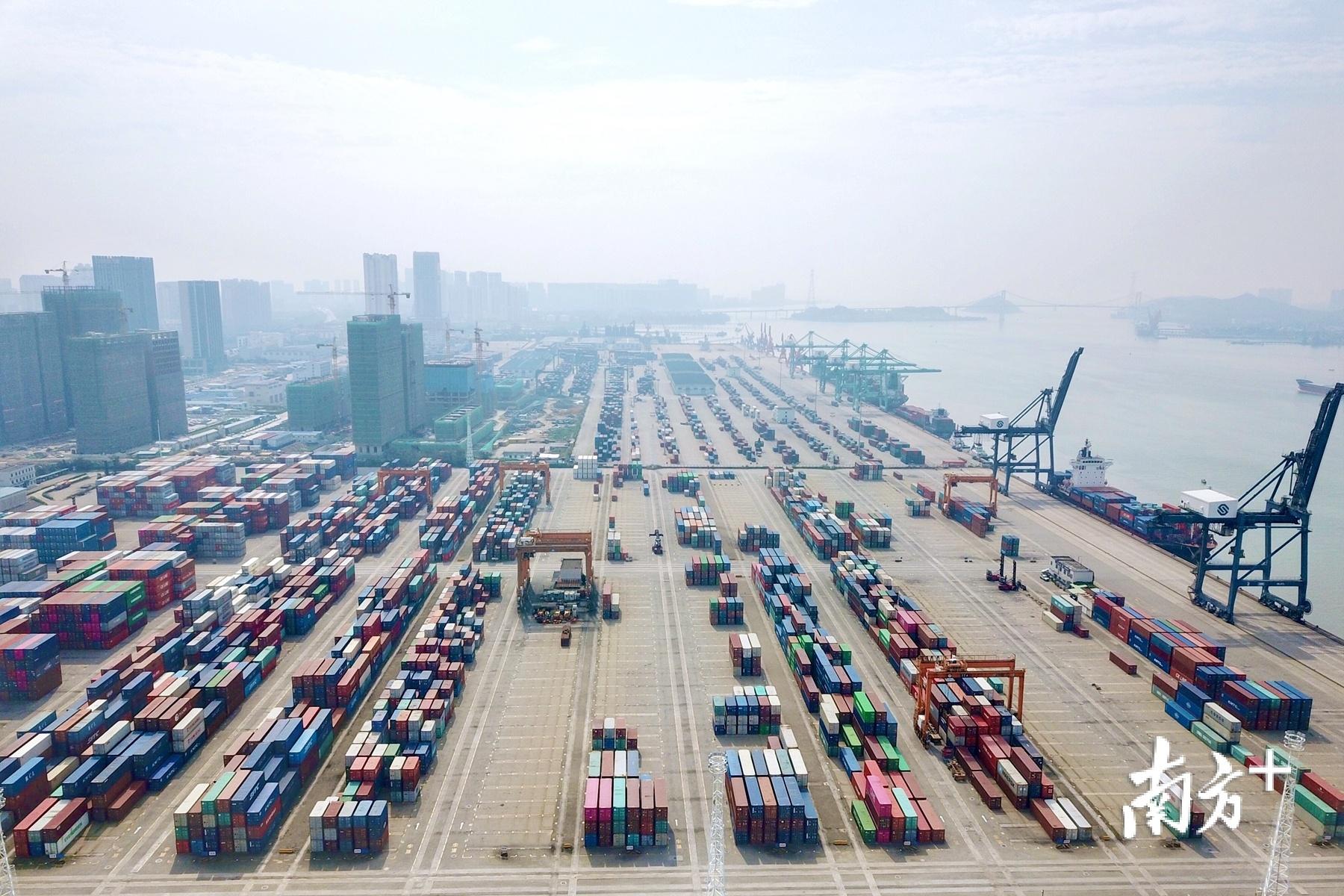 """港口经济是1998年汕头提出发展的""""三大特色经济""""之一。杨立轩 摄"""