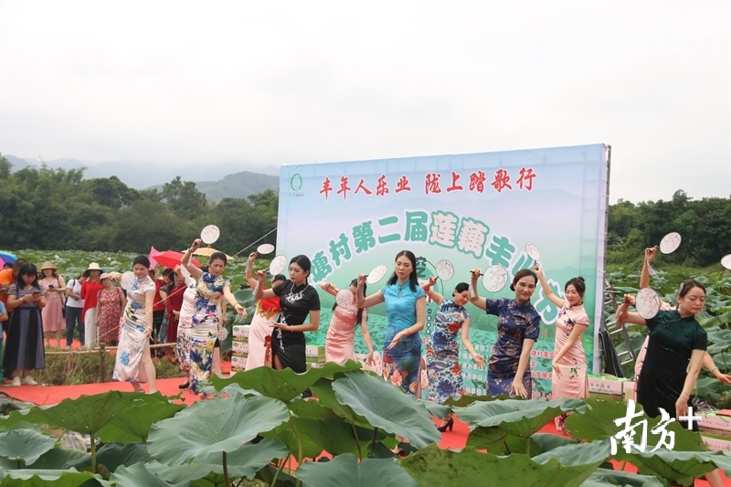活动中还举行旗袍表演。陈咏怀 摄