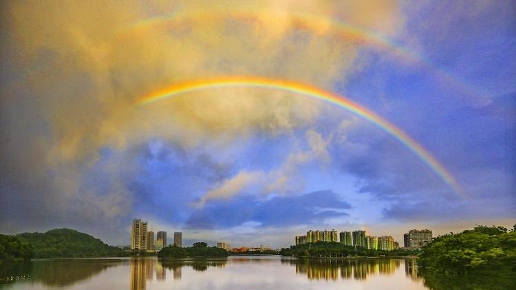 【阳江瞬间】惊喜!今晨又现双彩虹!