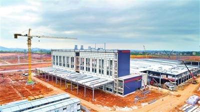 今麦郎(河源)项目一期厂房基建基本完成。河源日报记者 冯晓铭 摄