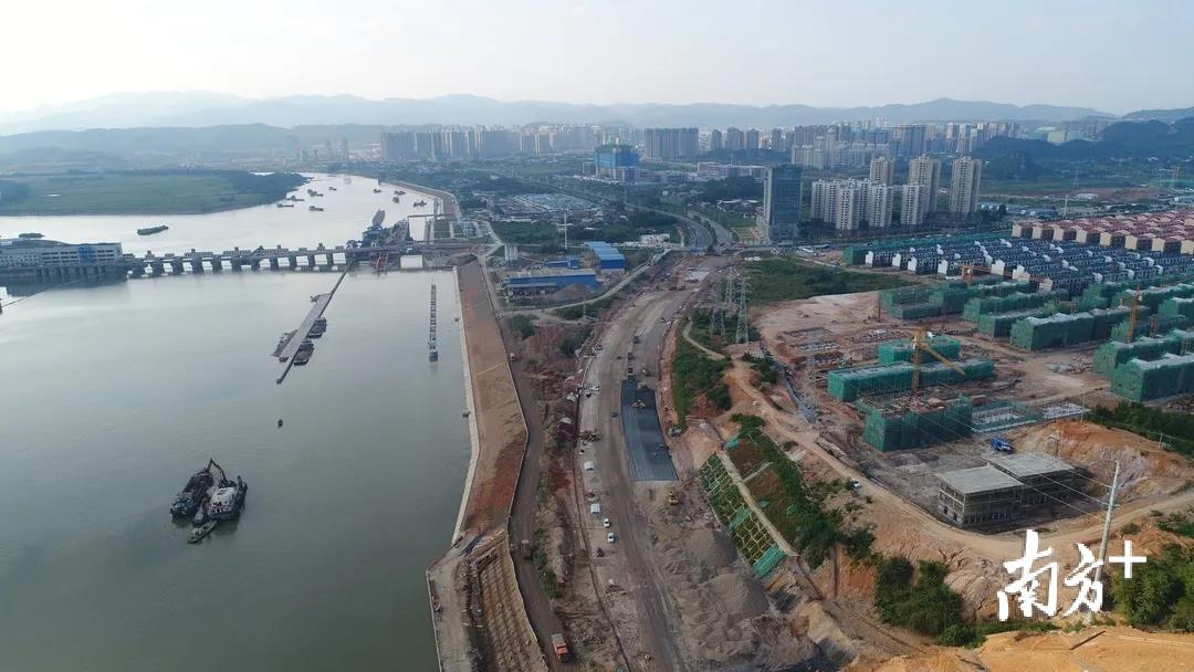 韶州大道新区段建设现场