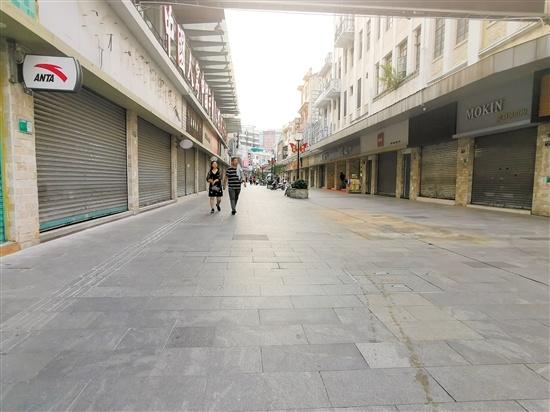 常安路步行街商铺空置率高。