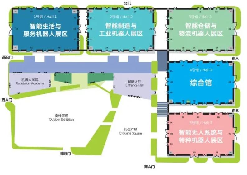 """展馆规划平面图。图源:""""中德工业服务区三龙湾""""微信公众号"""