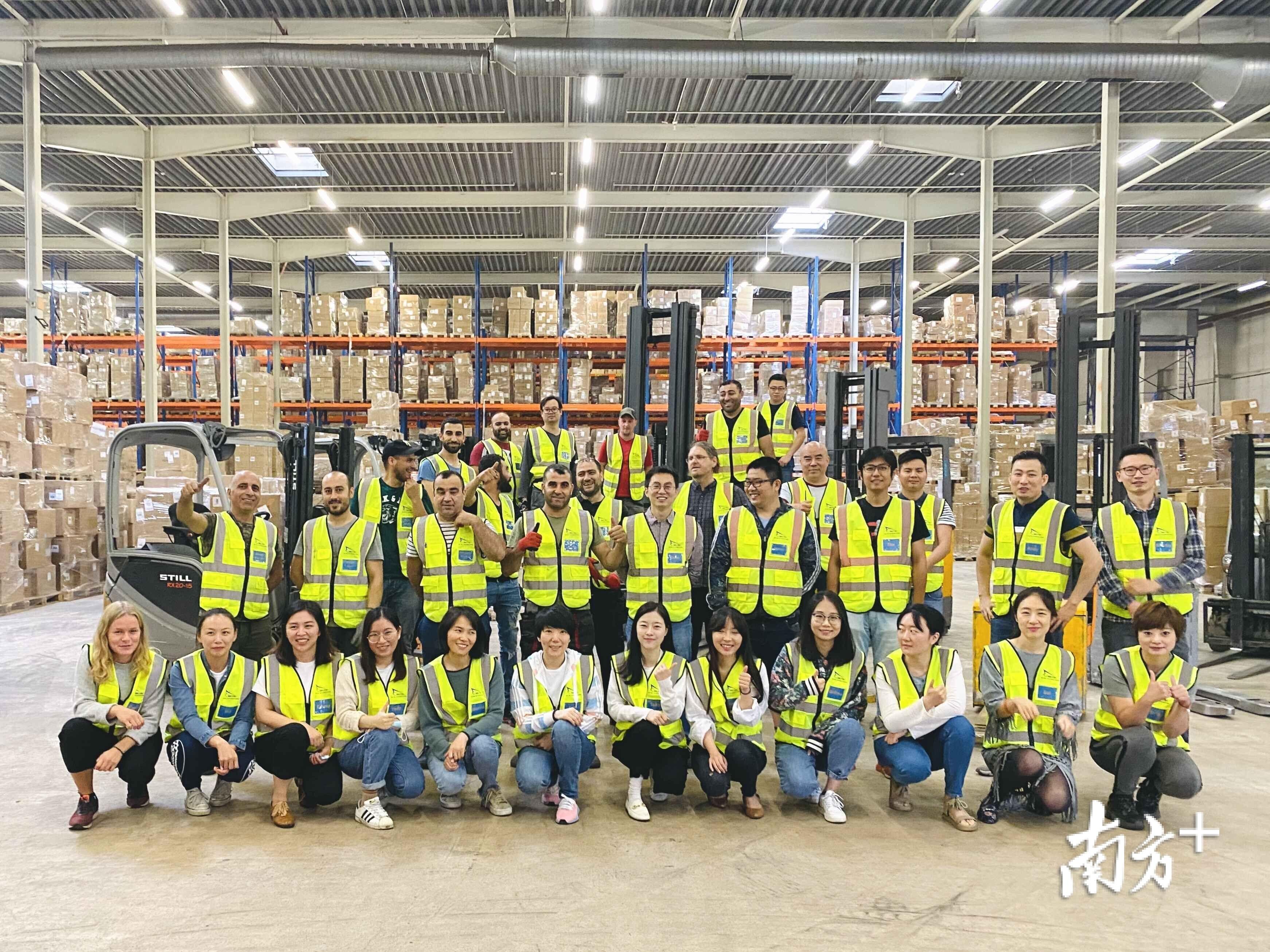 广东甜秘密寝具有限公司在海外建立的仓储基地。受访者供图