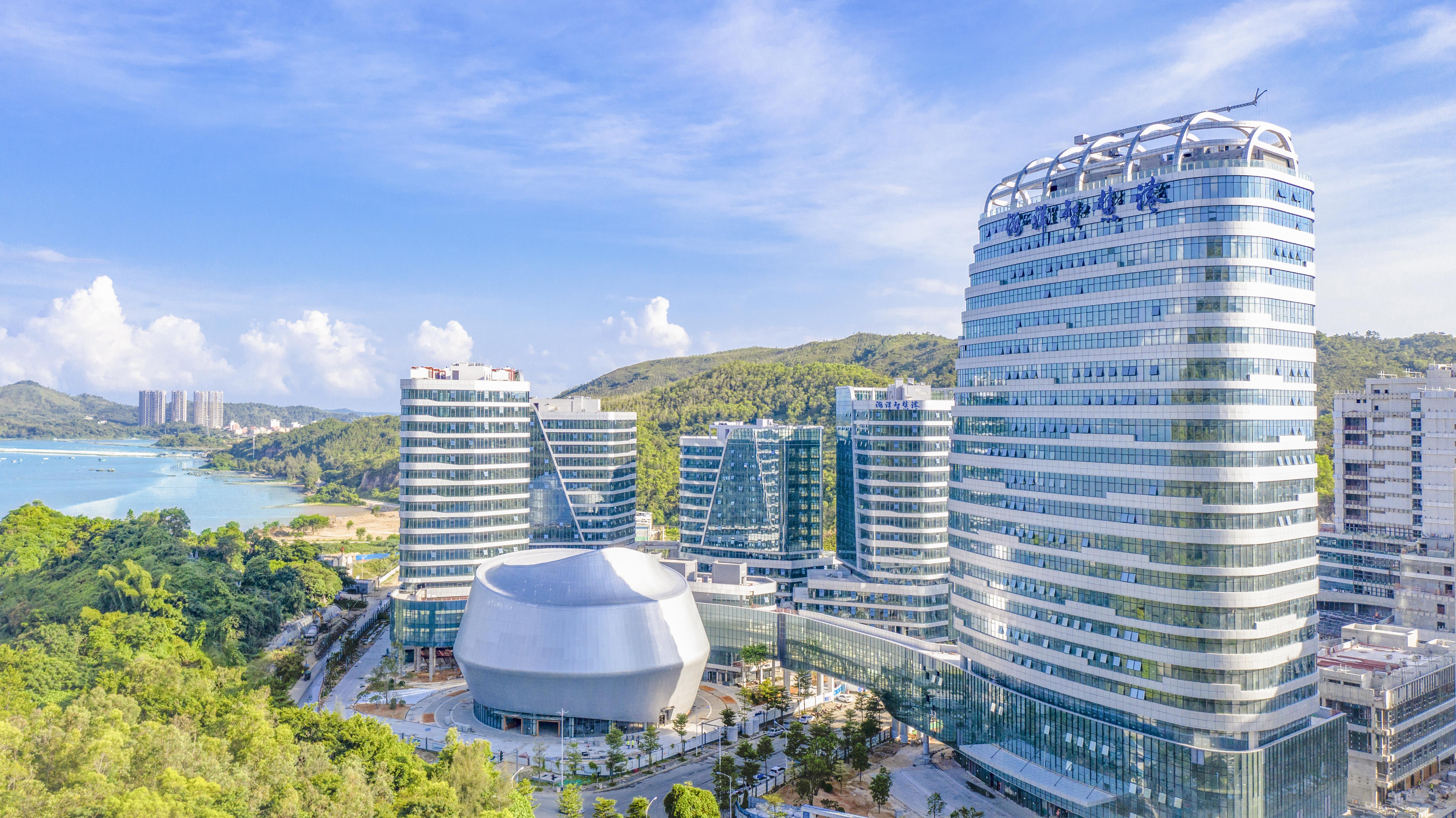 深汕合作区助力深圳全球海洋中心城市建设。图为深汕海洋智慧港。